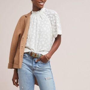 Anthropologie Feather Bone Chatelet Blouse size S